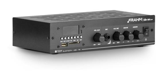 Amplificador Som Ambiente Frahm Slim 1800 Usb Fm 60w