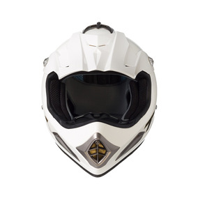 Capacete Texx Speed Mud Unicolor Branco Metalico S-56