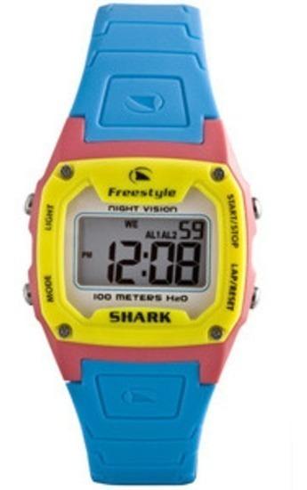 Relógio Freestyle Shark Classic Cyan Silicone Importado H20
