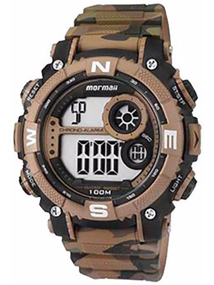 Relógio Mormaii Masculino Camuflado Mo12579a/8v Digital Off