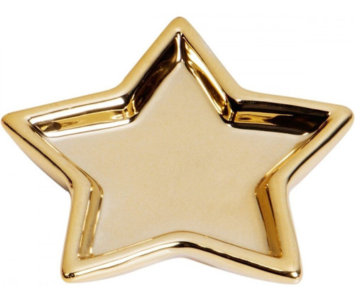 Porta Anéis Cerâmica Prato Shiny Star