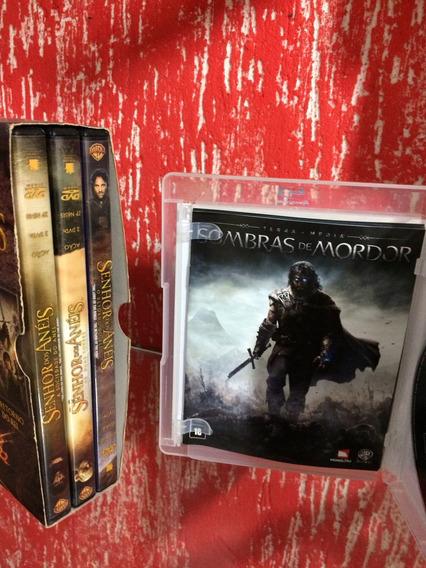 Jogo Shadow Of Mordor Ps3 + Filme Dvd Senhor Dos Anéis