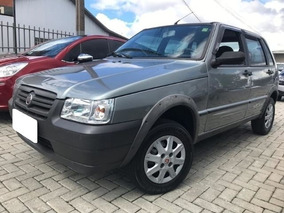 Fiat Uno Mille Fire Economy Way Cinza 1.0