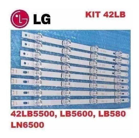 Kit Completo Barra De Led Tv Lg 42lb5800 42lb5500 Aluminio