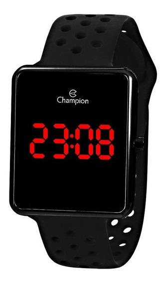 Relógio Champion Feminino Led Quadrado Preto Ch40081d Origin