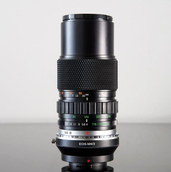 Lente Olympus 75-150 F4 + Adaptador Compósito Micro 4\3 -eos