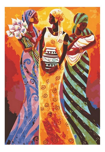 Pintura Numerada Mulheres Africanas_p2