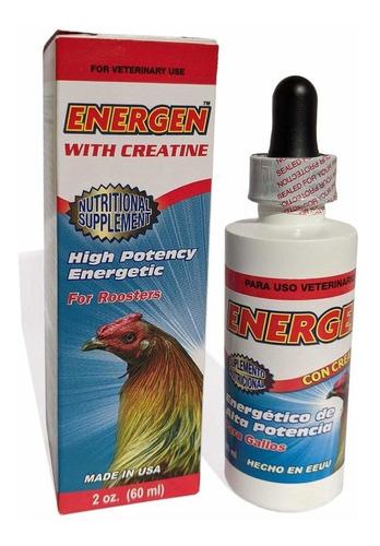 Imagen 1 de 5 de Energen With Creatine.energia Para Gallos