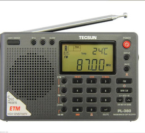 Rádio Tecsun Pl-380 Dsp Pll Fm Stereo Mm/sw/lw + Brinde