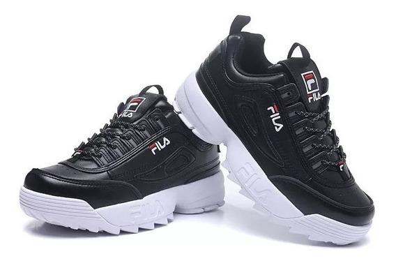 Zapatillas Fila Disruptor Ii Originales Negro Blanco 2019
