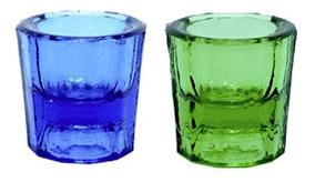 Pote Dappen Vidro Kit ( 01 Verde + 01 Azul )