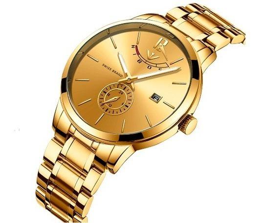 Reloj Hombre Nibosi 2318 Original De Lujo Cronografo +extras