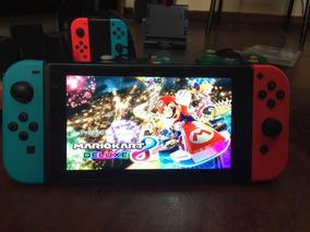 Nintendo Switch + Acessórios + 4 Jogos + Controles E Joycons