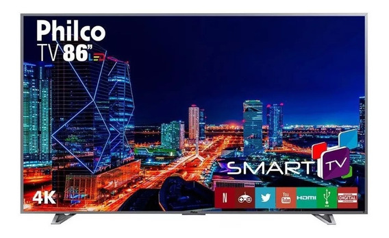 Smart Tv Led Ultra Hd 4k 86 Polegadas Philco Ptv86e30dswnt