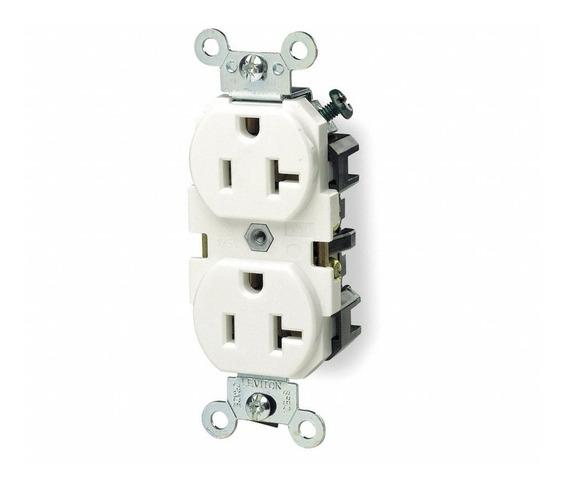 Receptaculo Duplex Industrial 2p 3h 20a 125v Blanco