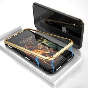 7677490f8ac9 Funda Magnética D Metal C Vidrio iPhone + Mica Glass Frontal