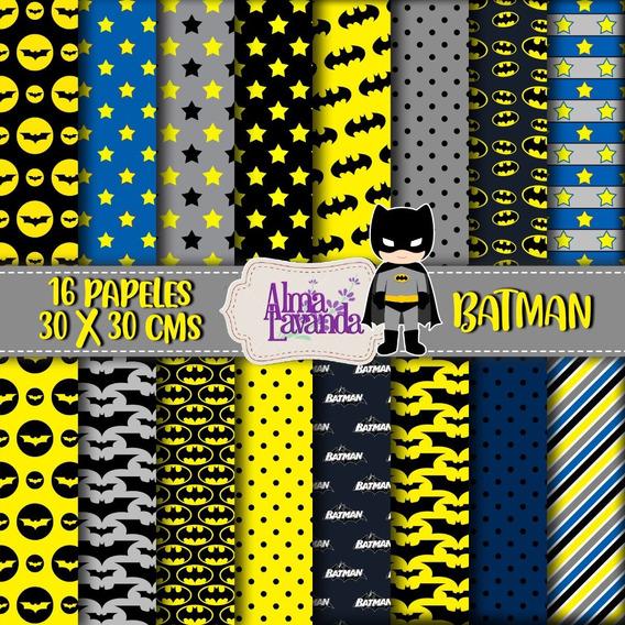 Pack De Papeles Imprimibles - Batman