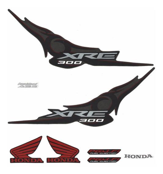 Kit Adesivo Faixa Honda Xre 300 Preta 2011 Jogo Adesivos