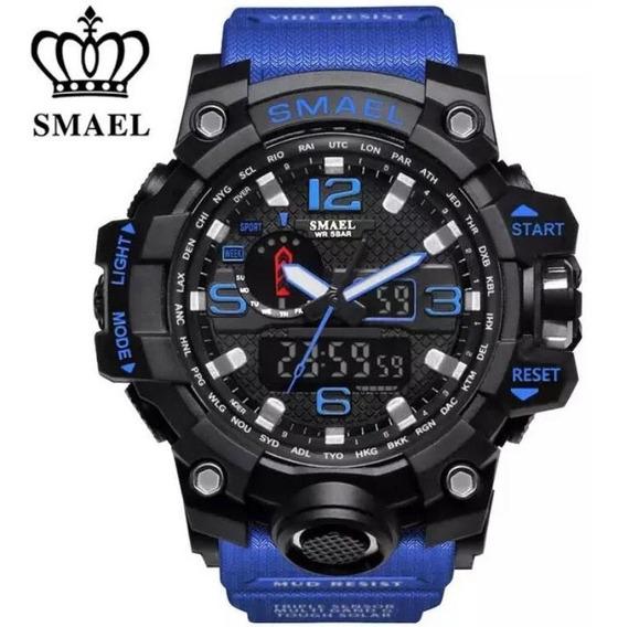 Relógio Smael 1545 Tático Militar Show Original Promoção