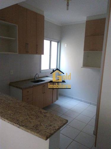 Apartamento Com 1 Dormitório À Venda, 41 M² Por R$ 185.000,00 - Nova Aliança - Ribeirão Preto/sp - Ap1468