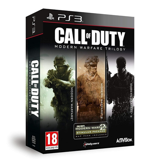 Pacote Call Of Duty Modern Warfare Cod Mw 1 2 E 3 Trilogy - Jogos Ps3 Playstation 3