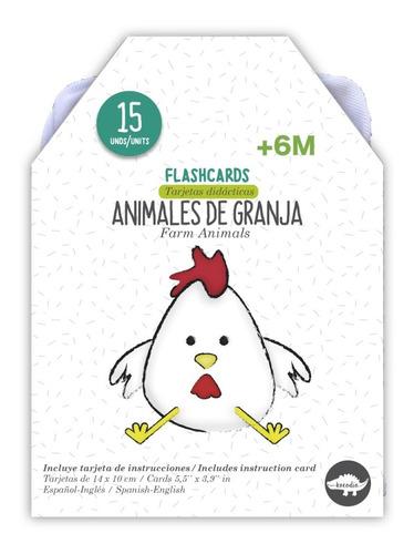 Flash Card Animales De La Granja - Tarjetas Granja