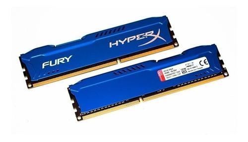 Imagen 1 de 2 de Memoria Ram Kingston Hyperx Fury 8gb Ddr3 1866 Mhz Cl10