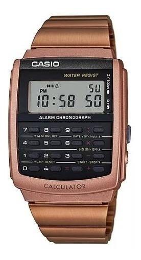 Relógio Casio Calculadora Rose Databank Ca-506c-5adf Orig.