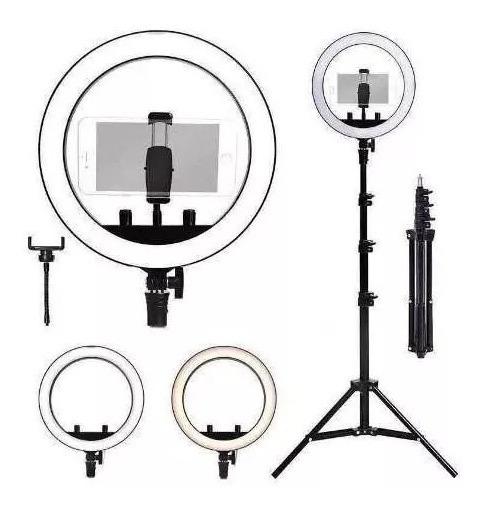 Iluminador Led Ring Light 18 E Rl18 46cm 80w Bicolor Make