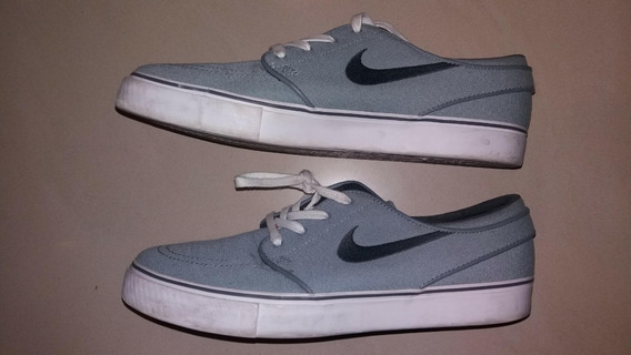 Zapatillas Nike Zoom Stefan Janoski Cnvs Gris Muy Poco Uso