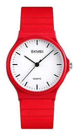 Reloj Skmei Analógico Rojo Deportivo Y Casual