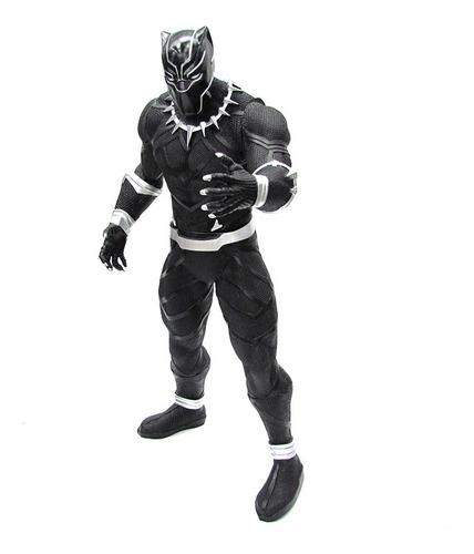 Imagem 1 de 3 de Boneco Pantera Negra Comics Marvel 45 Cm Articulado Mimo