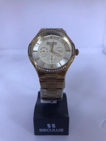Relógio Seculus 28256lpsgds1 Dourado Multifunção Feminino