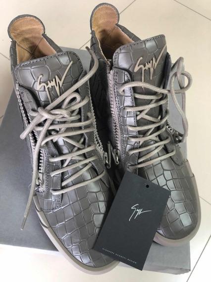 Sneakers Tenis Giuseppe Zanotti Design De Piel Tipo Cocodril