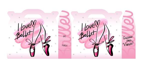Danza - Ballet - Cajita- Valijita (pack X40)