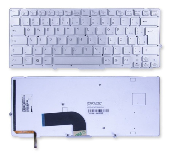 Teclado P/ Notebook Sony Vaio Vpc-sb1 Marca Bringit