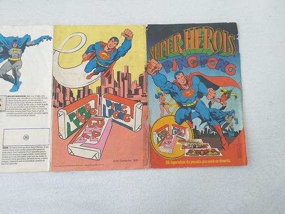 Super Herois Ping Pong Faltam 2 Figurinhas