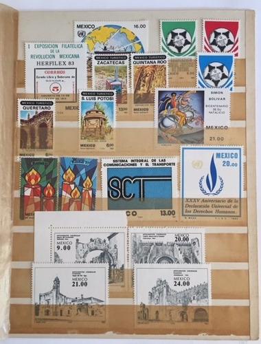 Imagen 1 de 3 de Timbres Mexico 1983 Coleccion De 18 Diferentes