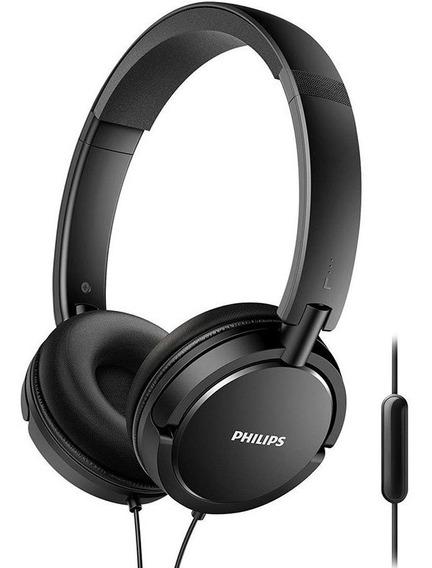 Fone De Ouvido Philips Extra Bass C/ Microfone Shl5005