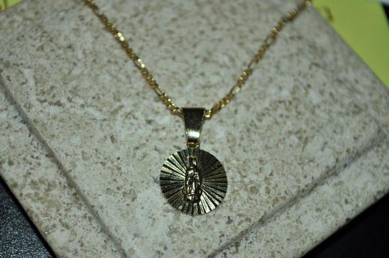 Medalla Bautizo Comunion Lamina De Oro 18kl