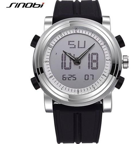 Relógio Sinobi 9368 Esportivo Moda Casual Analógico Digital