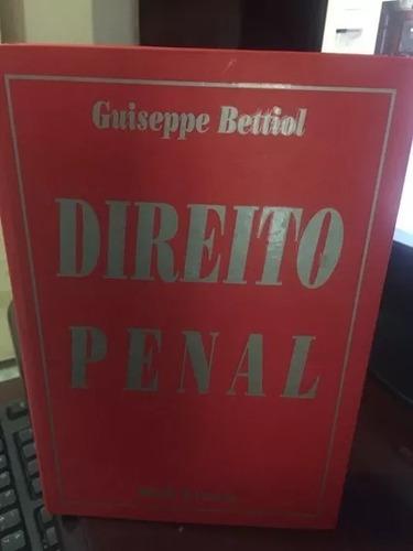 Imagem 1 de 1 de Direito Penal - Guiseppe Bettiol