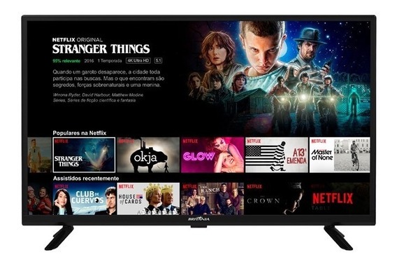 Smart Tv Britânia Led 32 Netflix Bivolt