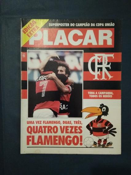 Placar N* 916 A - Flamengo Campeão Brasileiro 87- Copa União