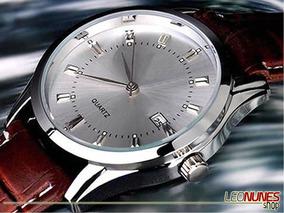 Relógio Elegante, Clássico, Marcador Data + Caixa! Promoção!