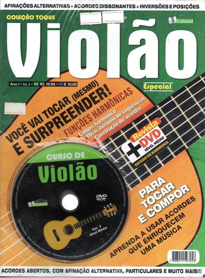 Curso De Violão Vol. 3 Nível Médio - Revista + Dvd