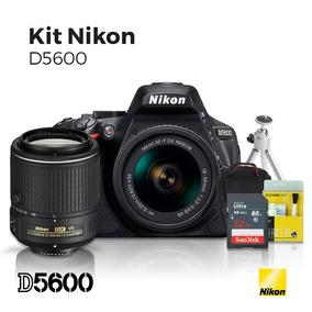Câmera Nikon D5600 18-55mm +lente 55-200mm +32gb (c10)+kit