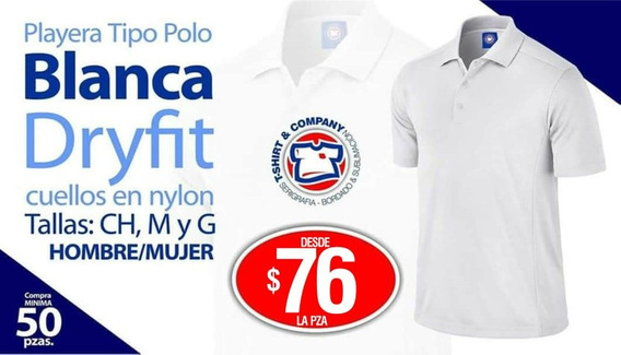 Playera Polo Para Sublimacion, Bordado O Serigrafia