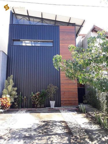 Sobrado Estilo Industrial Com 2 Dormitórios (sendo 02 Suítes) À Venda, 155 M² Por R$ 720.000 - Vila Moraes - Mogi Das Cruzes/sp - So0058
