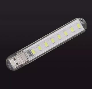 Mini Luminária 8 Led Usb Portátil